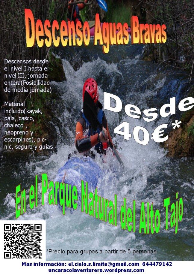 Iniciamos la Temporada de descensos en kayak por el Parque Natural del Alto Tajo